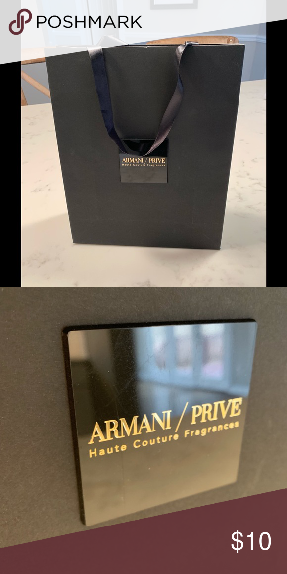 b858e8642 Armani Prive shopping bag Beautiful shopping bag !!! All black great for  decor or gift bag !!! No returns!! I have a couple of more let me know if  you need ...