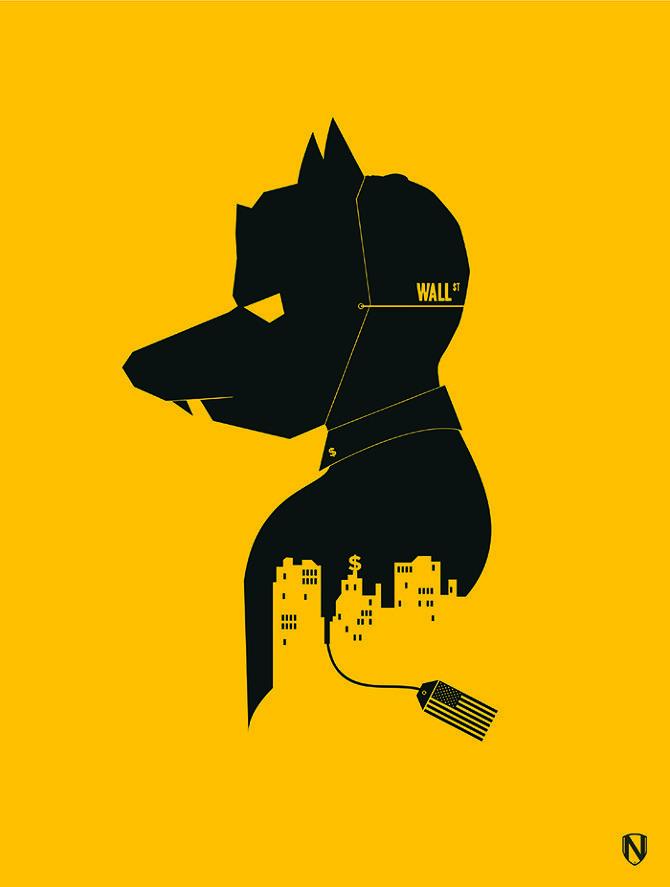 The Wolf Of Wall Street (2013) ~ Minimal Movie Poster by Matt Needle ...
