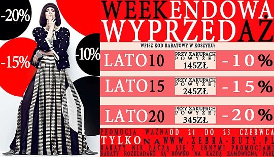 Weekendowa Wyprzedaz Obuwia Wykorzystaj Kod Rabatowy Http Zebra Buty Pl Zebra Movie Posters