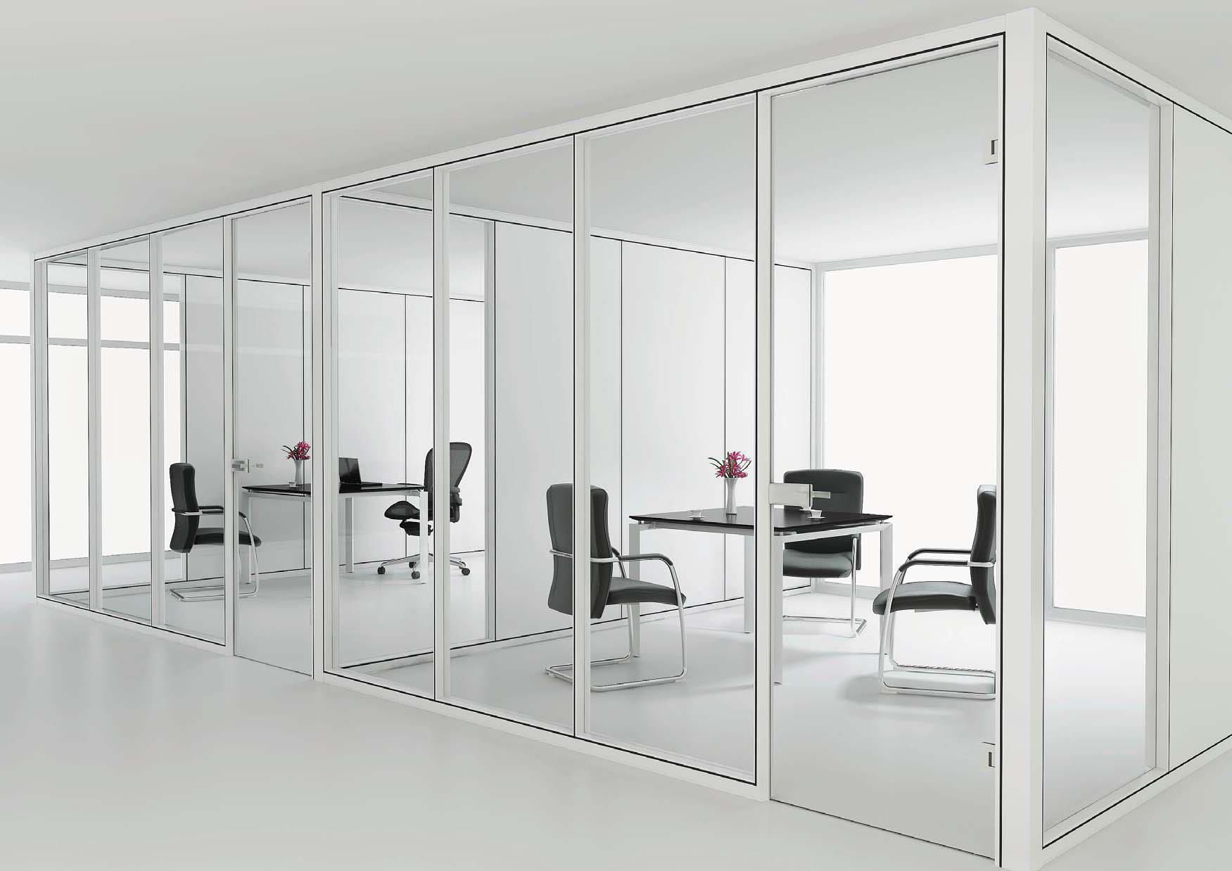 Sapphire 8 H Modular Office Floor To Ceiling Glass Panel Office