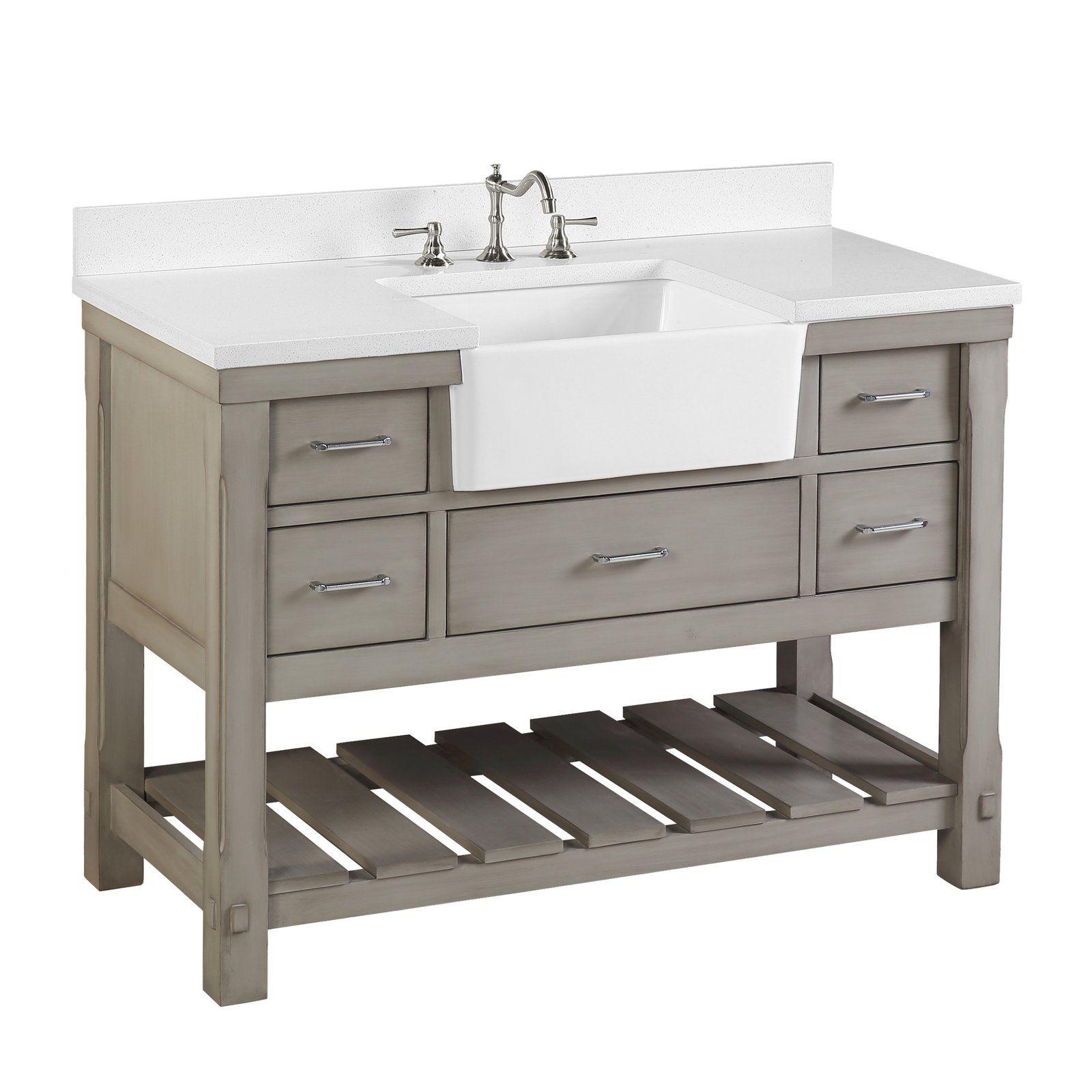 44+ Apron sink bathroom vanity ideas