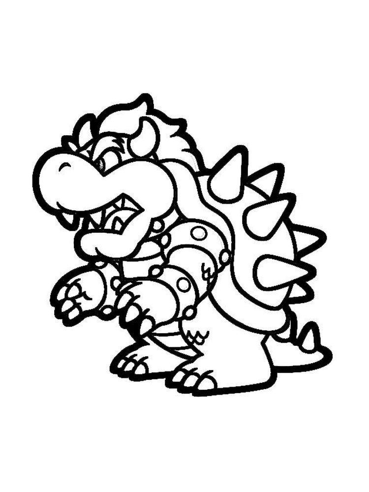 Bowser Coloring Pages Free Bowser Cartoon Coloring Pages