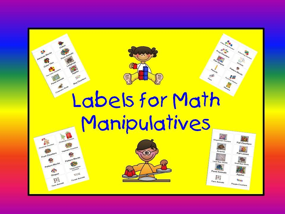 A Teacheru0027s Touch Labels for Math Manipulatives For The - labels word template
