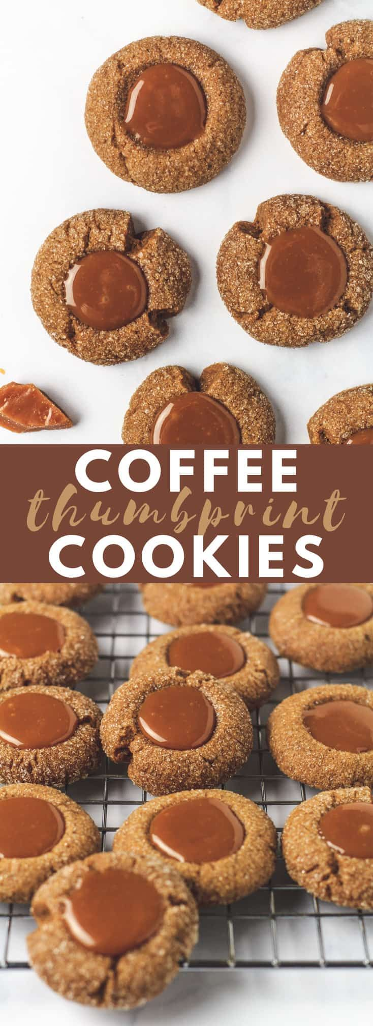 Coffee Thumbprint Cookies Crispy on the outside and soft
