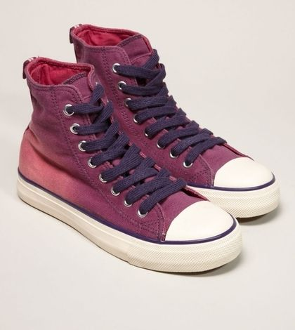 59990a9d7f364 AEO Canvas Hi-Top Sneaker - American Eagle Outfitters - StyleSays ...