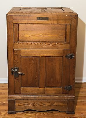 Rare 1897 Baldwin Antique Icebox 40 Oak 41 Never Refinished Antique Ice Box Antiques Oak