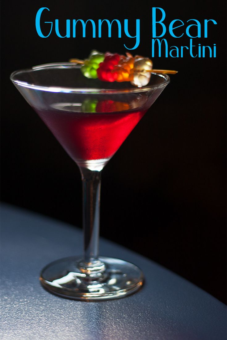 The Gummy Bear Martini Sweet Like Candy Recipe Candy Cocktails Drinks Alcohol Recipes Vodka Cocktails Recipes