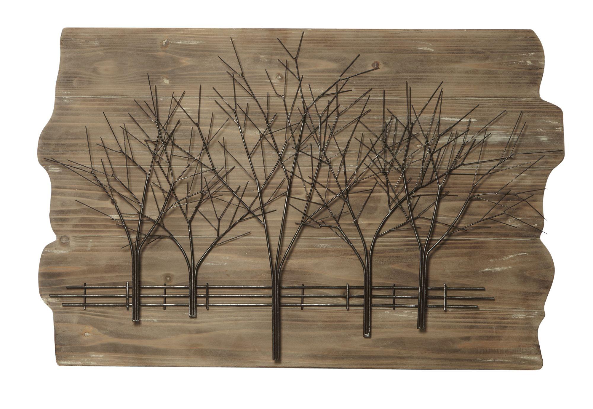 Timber metal tree wall art metal tree art decor