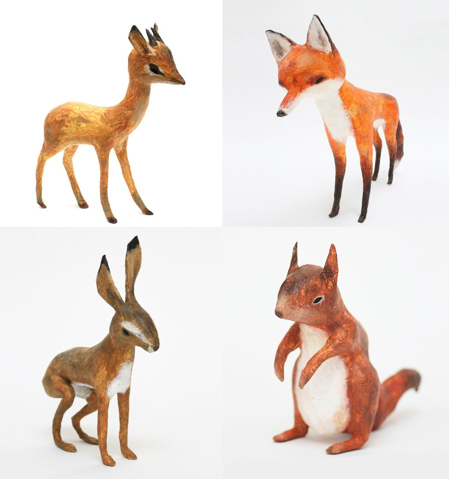 Papier m ch animals by abigail brown art is a way for Making paper mache animals
