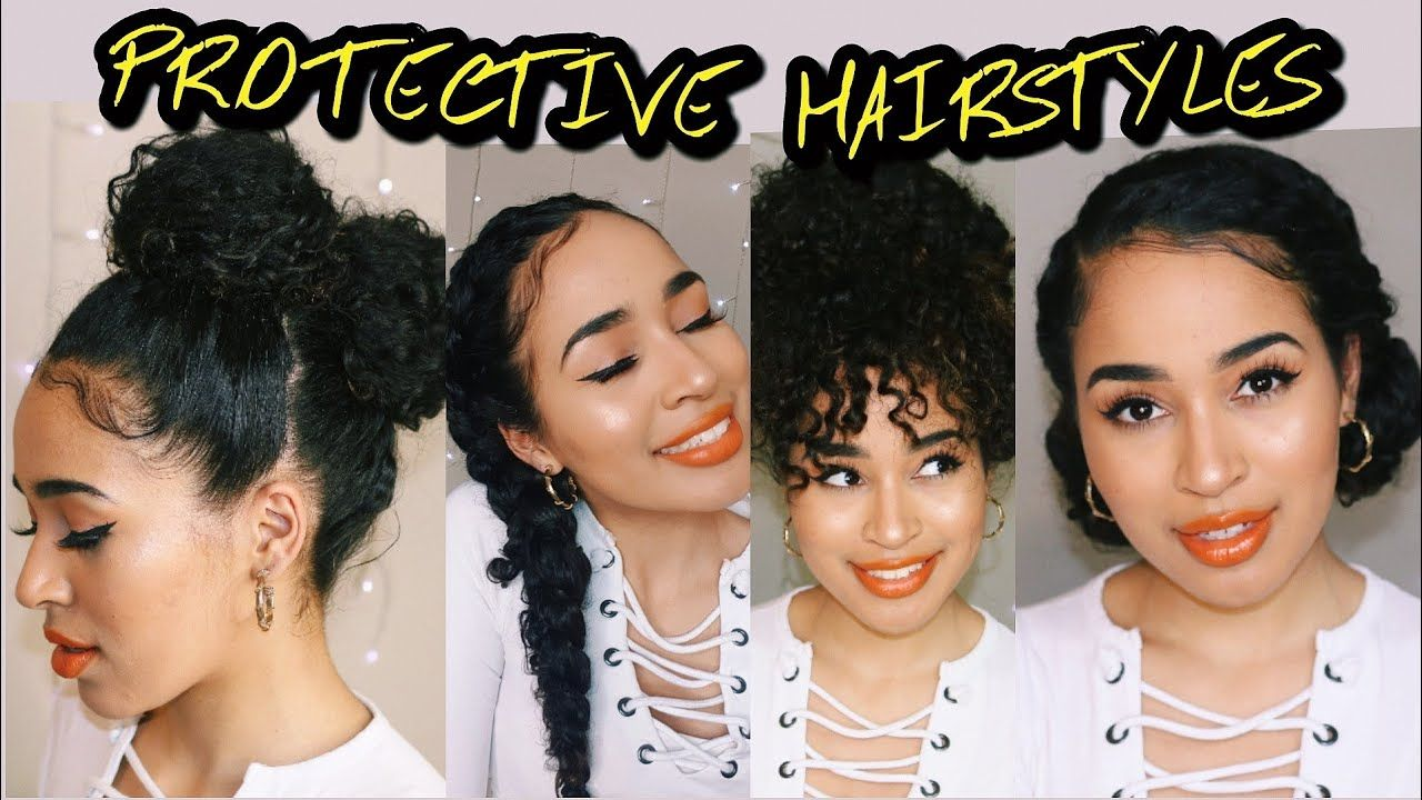 4 Easy Protective Hairstyles For Naturally Curly Hair Lana Summer Curly Hair Styles Naturally Curly Hair Styles Hair Styles