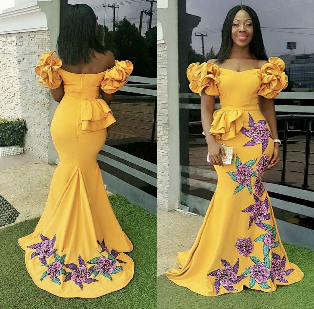 African wedding dresses for guests  Asoebi slayer Wedding guests African Fashion Ankara Lastes