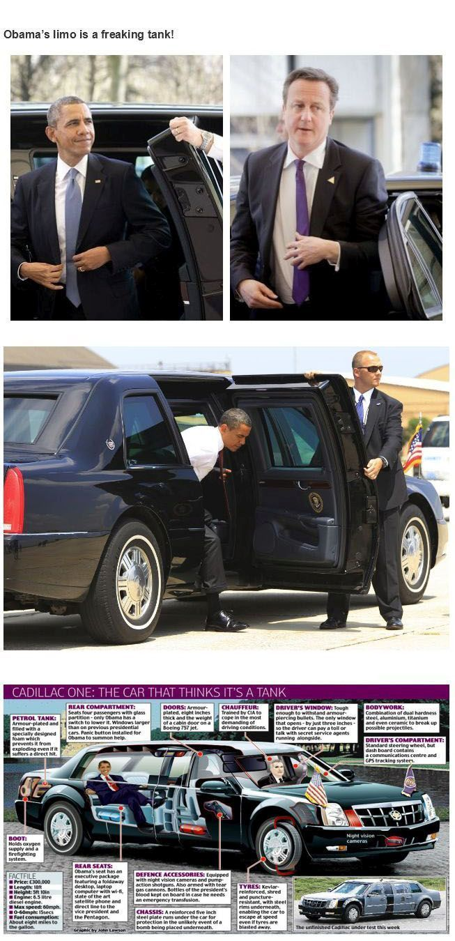 Us President Obamas Armored Limo Anything Every Thing With