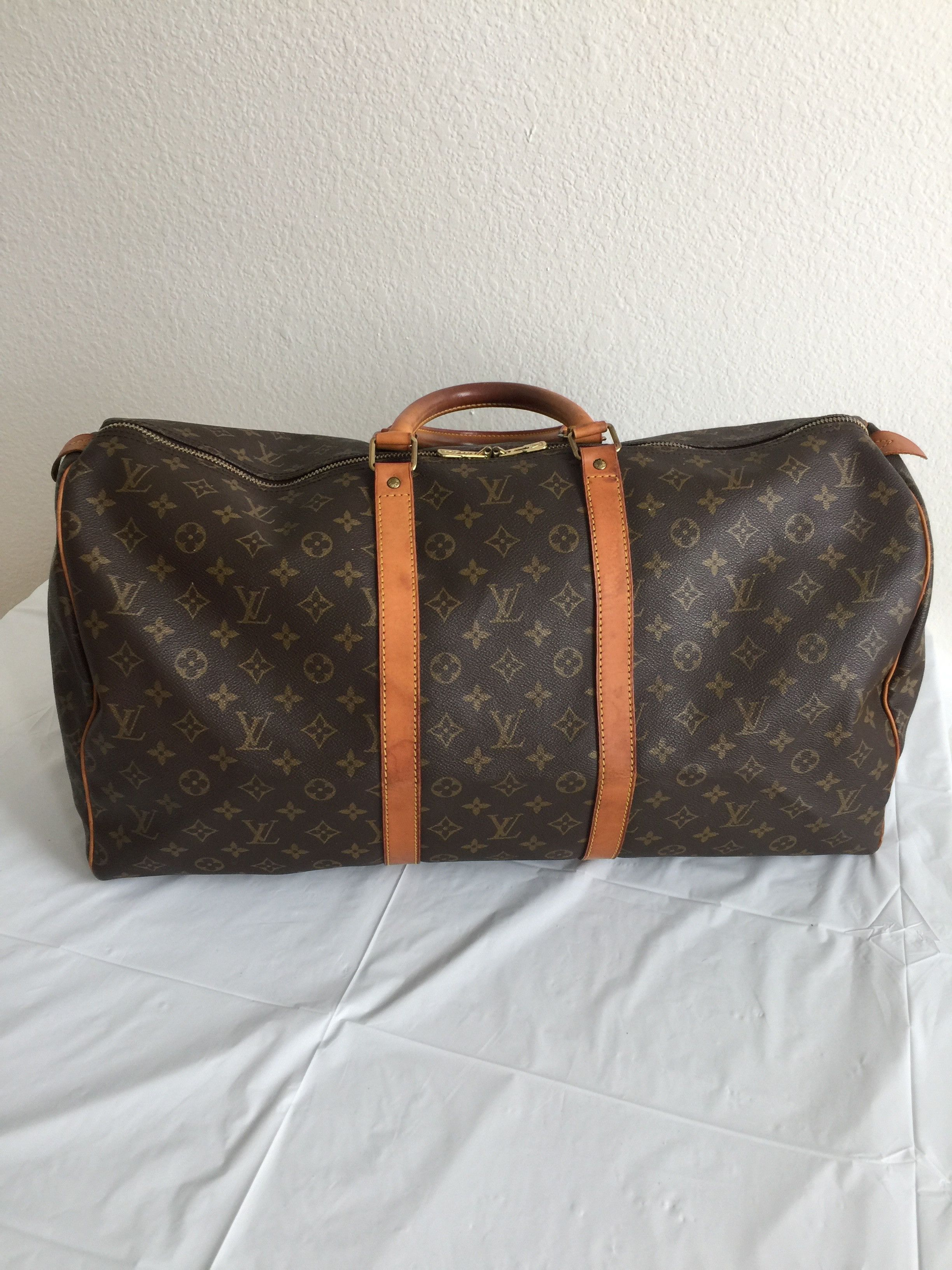 Preloved Authentic Louis Vuitton Boston Bag Keepall 55
