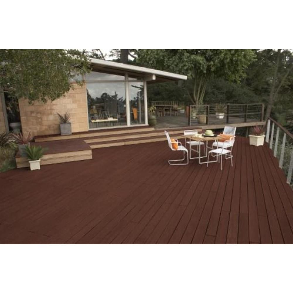 Behr Premium 1 Gal St 117 Russet Semi Transparent Waterproofing Exterior Wood Stain And Sealer 511701 The Home Depot In 2020 Exterior Wood Stain Deck Paint Concrete Coatings