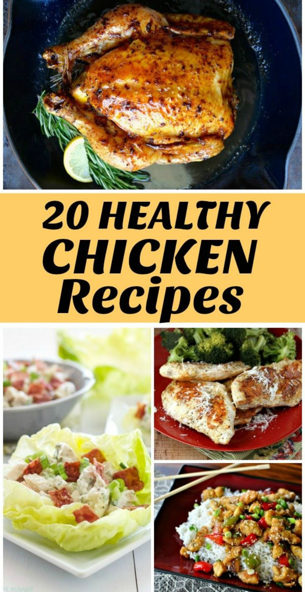 20 Healthy Chicken Dinner Recipes To Try This Year In 2021 Chicken Dinner Recipes Healthy Chicken Dinner Healthy Dinner Recipes Chicken