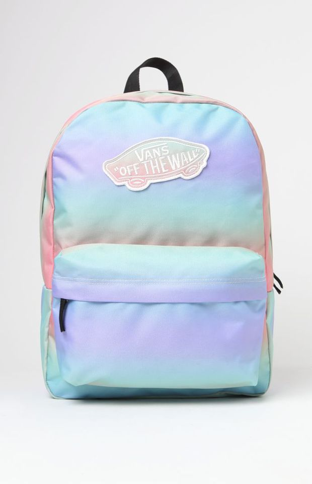 68261070aca9b3 Vans Realm Tie-Dye School Backpack - Womens Backpack - Rainbow Ab - One