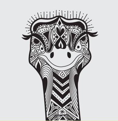 pattern ostrich