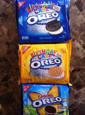 3 American Oreo Cookies Chocolate Birthday Cake Flavor Creme