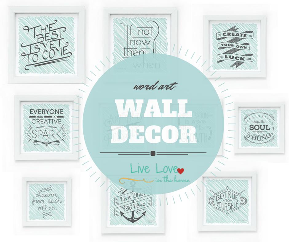Awesome Word Art Wall Decor Vignette Ideas Dochista Info
