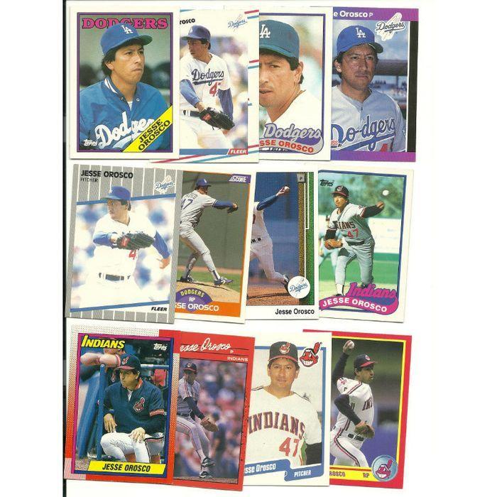 HUGE 50 + different JESSE OROSCO cards lot 1983 - 2004 Mets Dodgers Indians