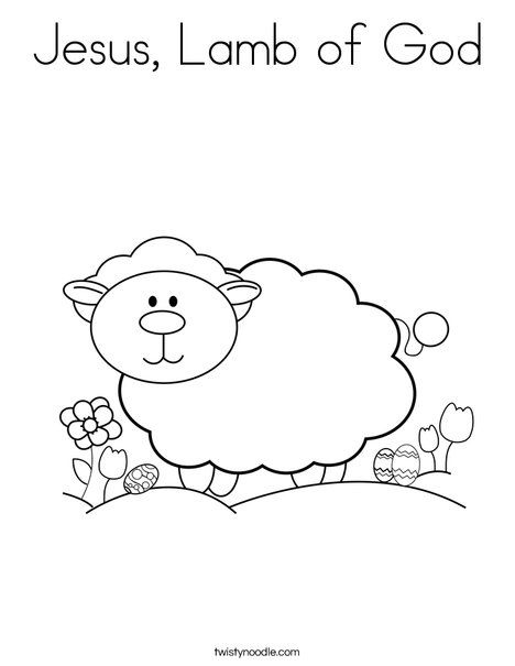 Jesus Lamb Of God Coloring Page Twisty Noodle Sunday School