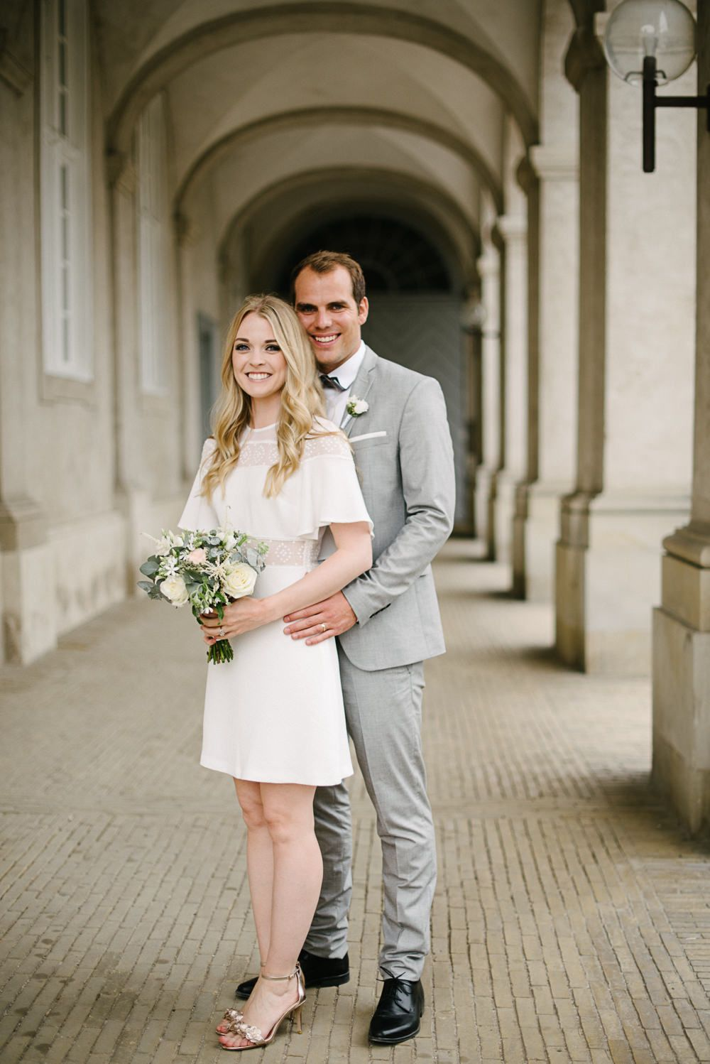 Stylish City Hall Copenhagen Elopement By Rochelle Coote Photography City Hall Wedding Dress Civil Wedding Dresses Minimal Wedding Dress