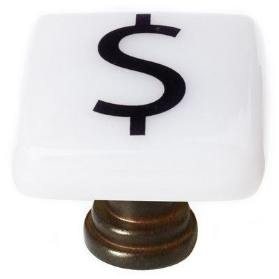 Sietto New Vintage Square Knob Finish: Oil Rubbed Bronze, Special Character: $