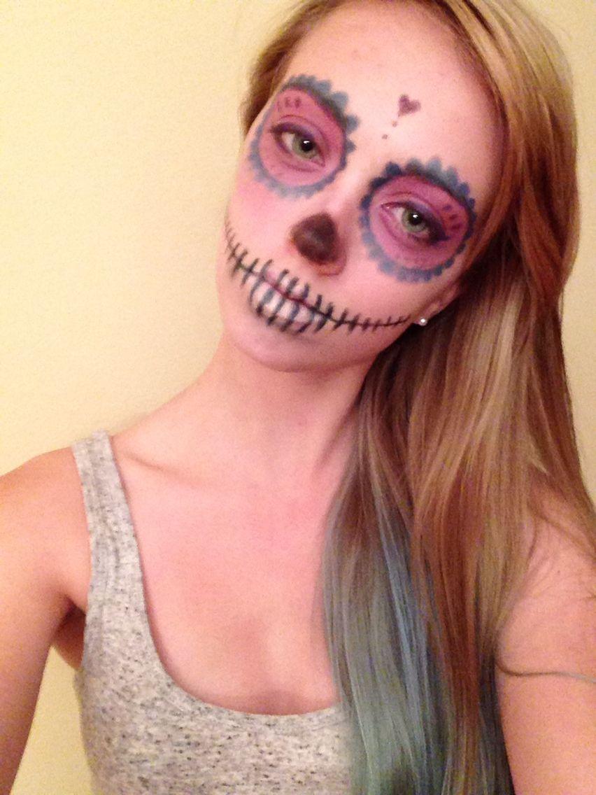 My sugar skull makeup