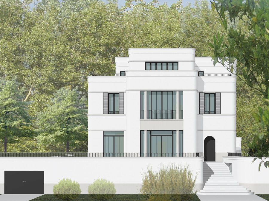 Villa goeppingen fassade in 2018 pinterest villa for Moderne villen grundriss