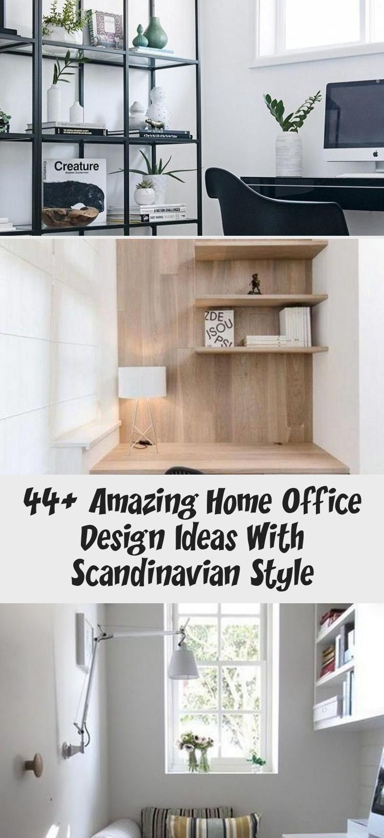 44 Amazing Home Office Design Ideas With Scandinavian Style Ideas In 2020 Home Office Scandinavian Style Design