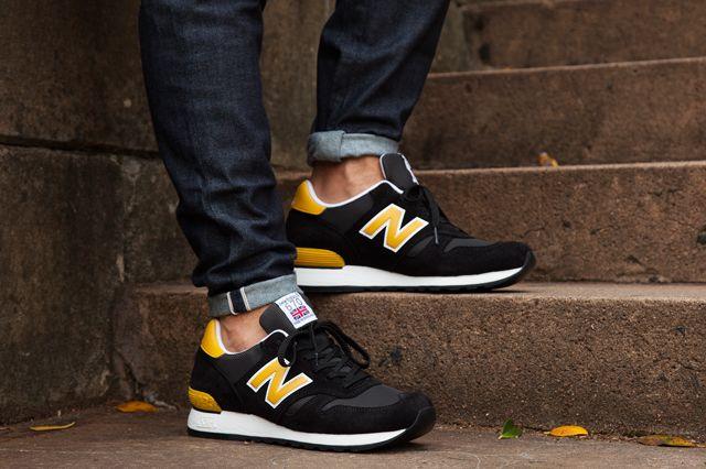 new balance black yellow