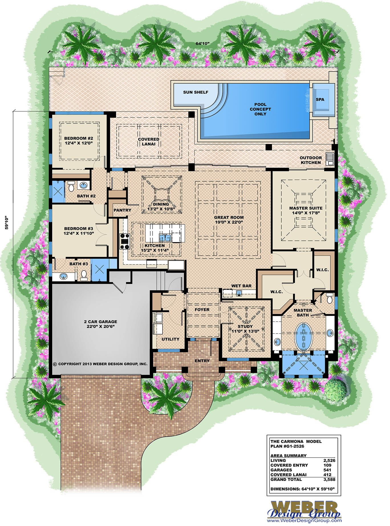 West Indies House Plan Contemporary Island Style Beach Home Plan Florida House Plans Beach House Plans House Plans One Story