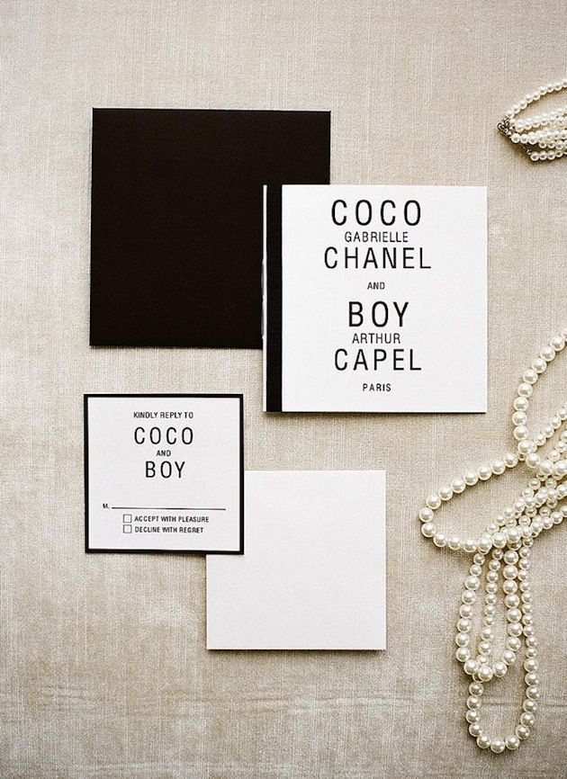 Co Co Chanel Wedding Inspiration by @He Y Day Away Bride | photo by @Christina Childress Childress Brosnan