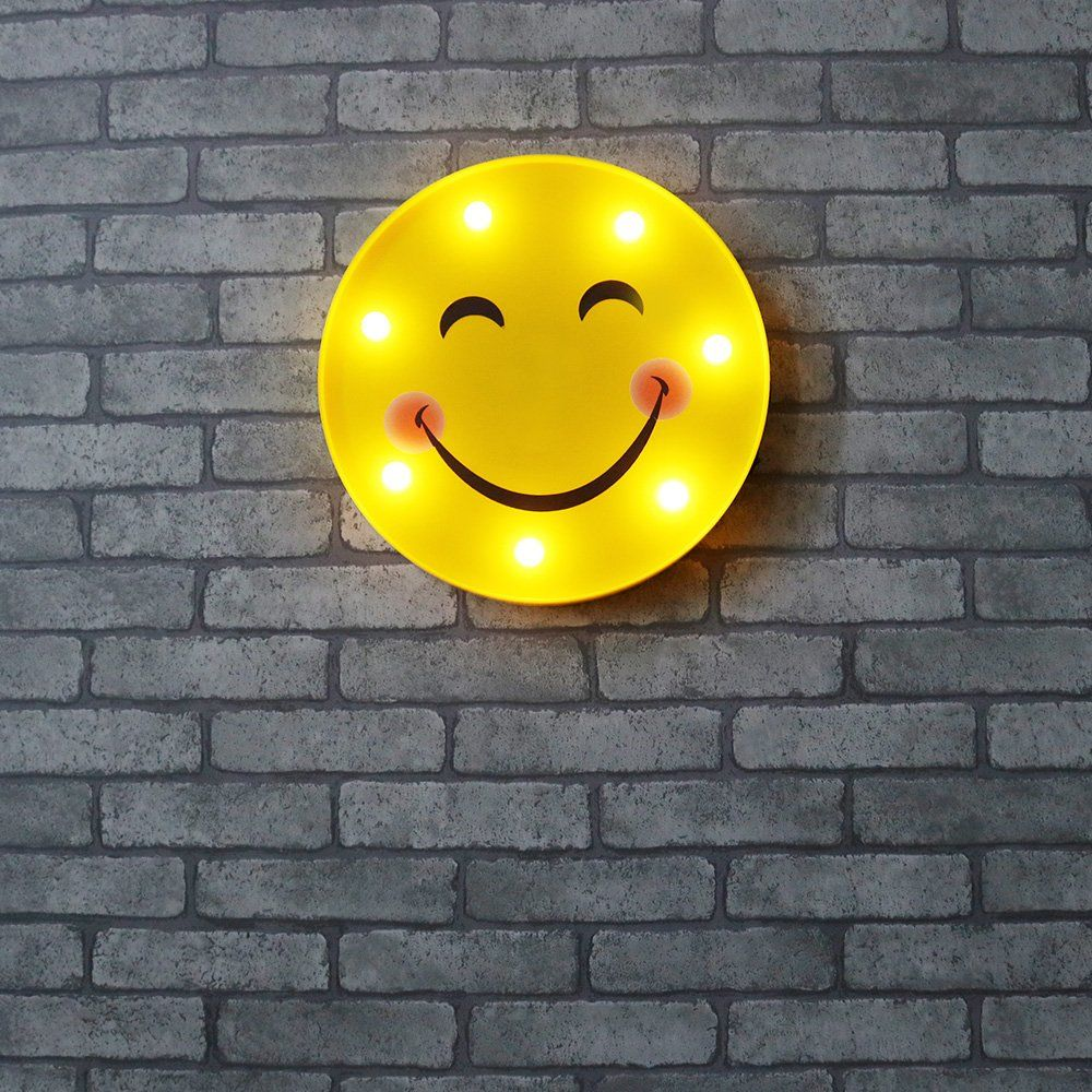DELICORE Marquee Emoji Sign Funny LED Table Lamps Night Lights For ...