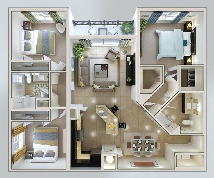 3 Bedroom Home Design Plans 3d House Lofty Inspiration Single Floor Three Apartment In Kerala Ev Planlari Ev Plani Ev Zemin Planlari