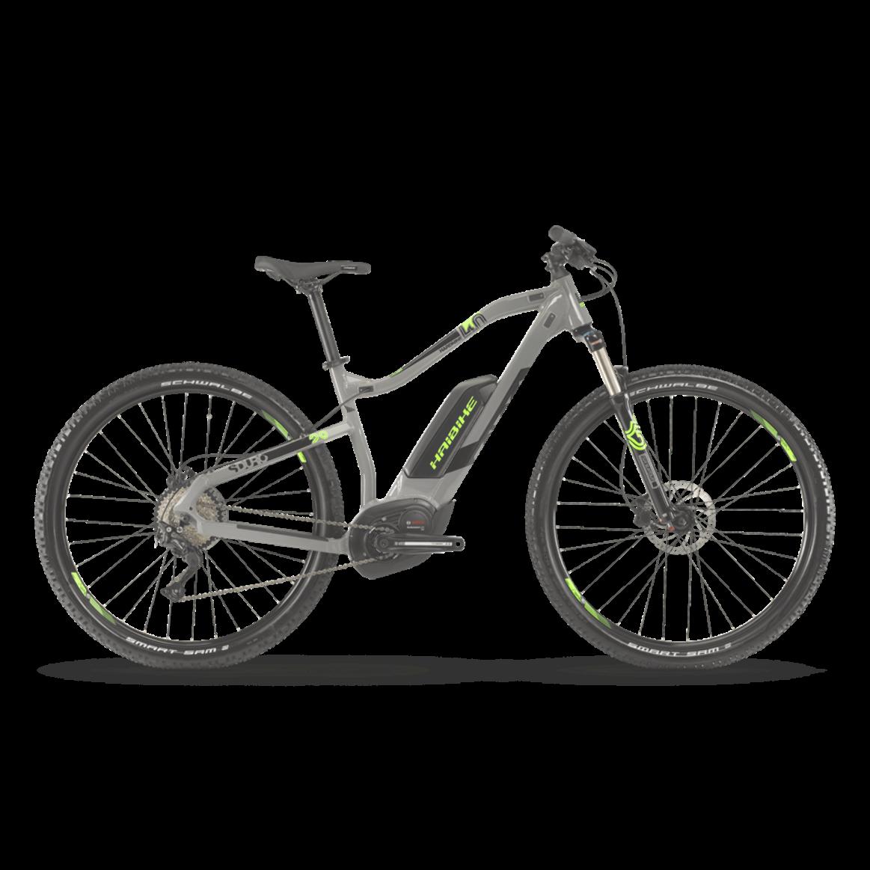Haibike Sduro Hardnine 4 0 2019 Electric Mountain Bike Grey Mountain Biking Electric Mountain Bike Ebike