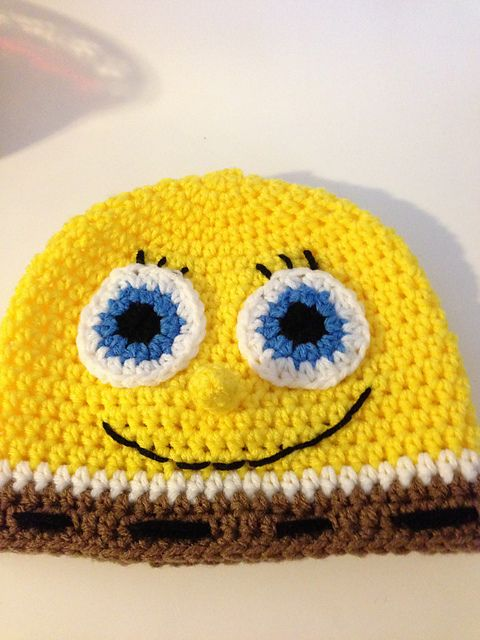 Spongebob Hat pattern by Gramma Beans | Gorros, Gorro tejido y Tejido