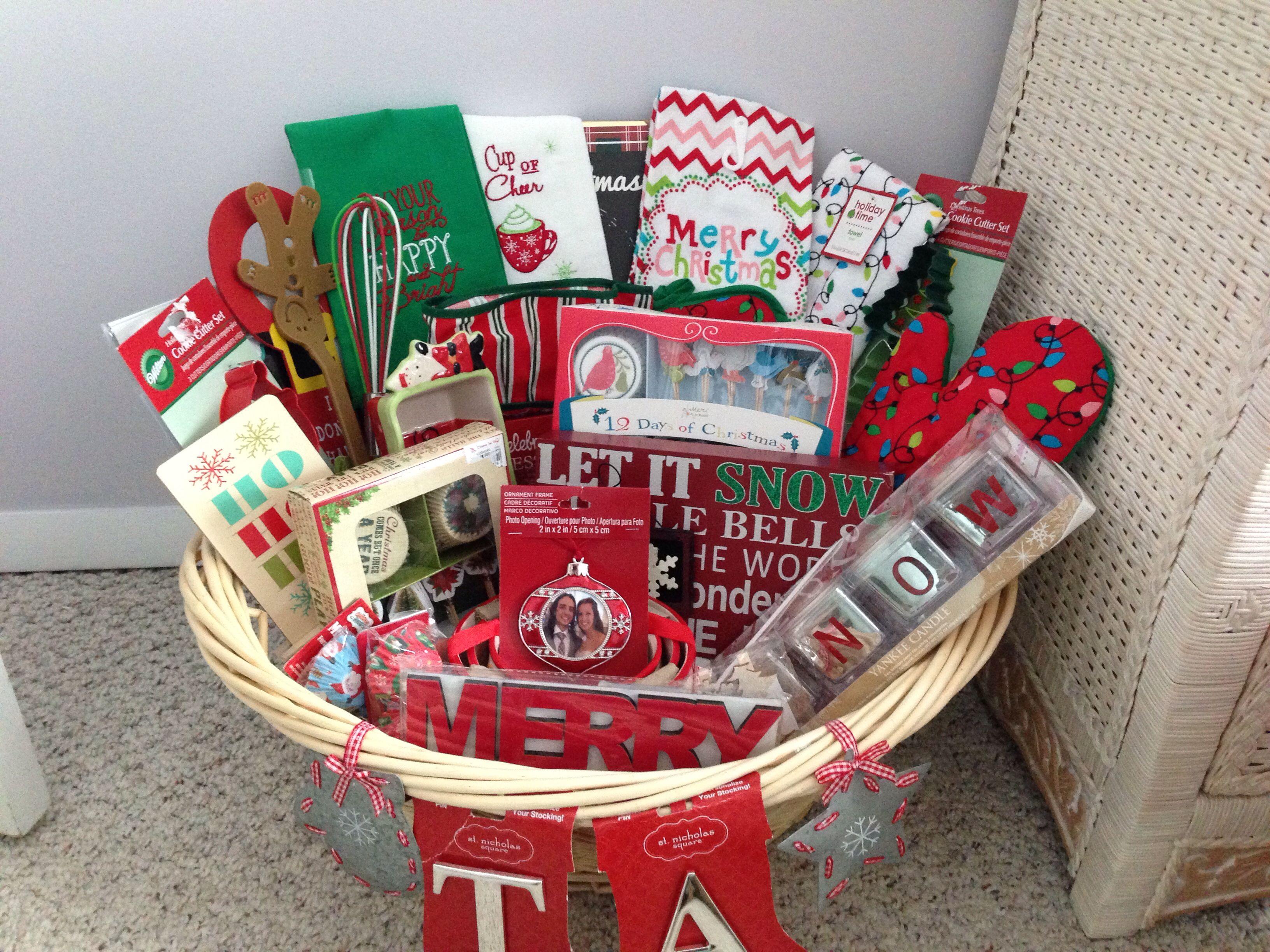 couples bridal shower gift ideas%0A Bridal shower holiday basket  Christmas    Holiday BasketsGift