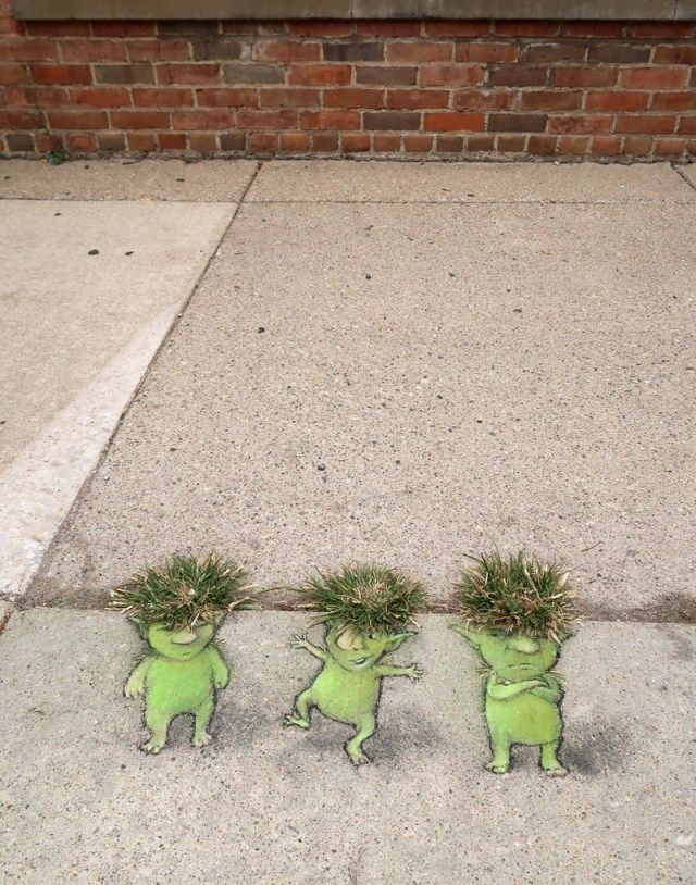 "David Zinn ""Dream Chalk Creatures"""