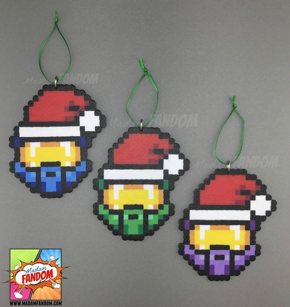 Halo Christmas Ornament.Halo Master Chief Christmas Ornaments Set Of 3 Or Individual