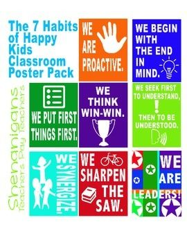 The 7 Habits Of Happy Kids Printable Classroom Posters 7 Habits