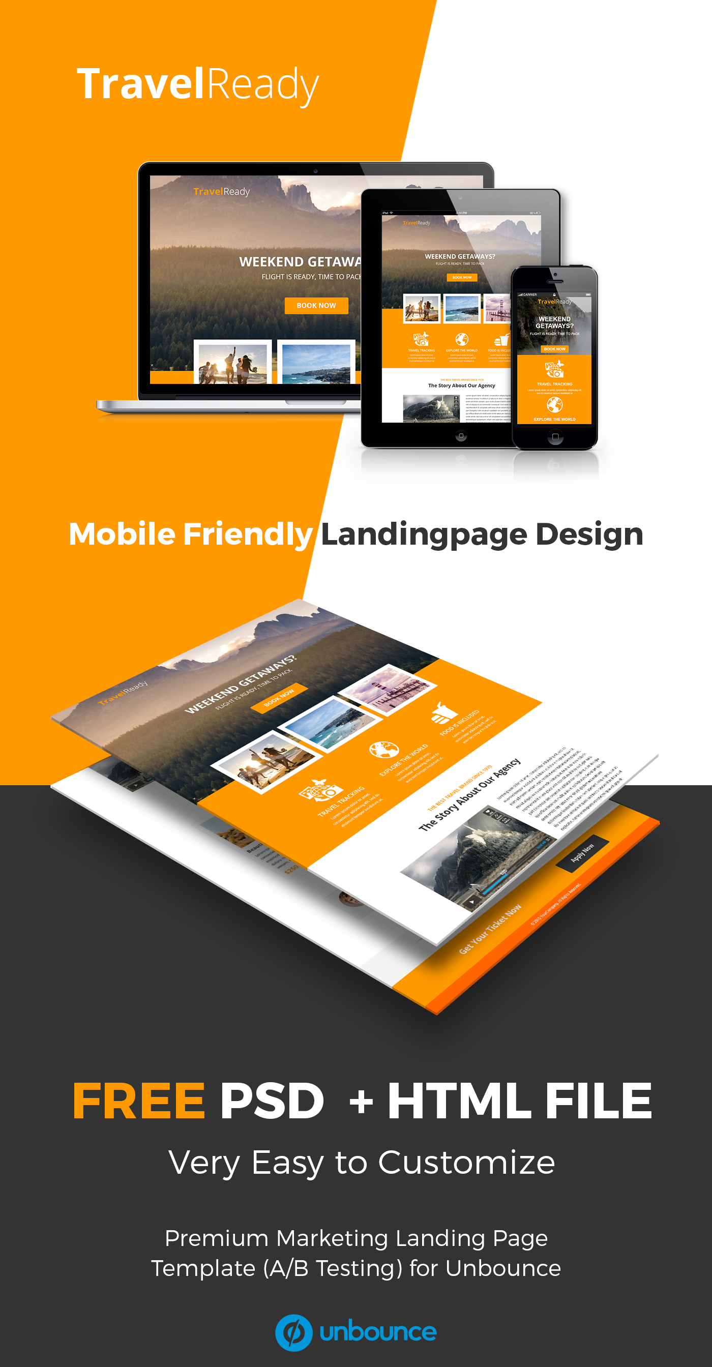 FREE TravelReady Landing Page on Behance | PSD | Pinterest