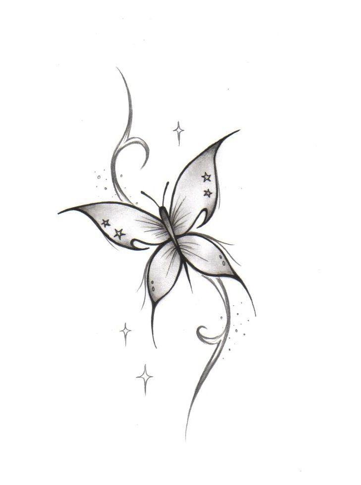 Sterne tattoo schmetterling Schmetterlings