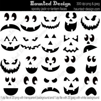 pumpkin template pdf  Jack-o-lantern Carving Templates Jackolantern Pumpkin ...
