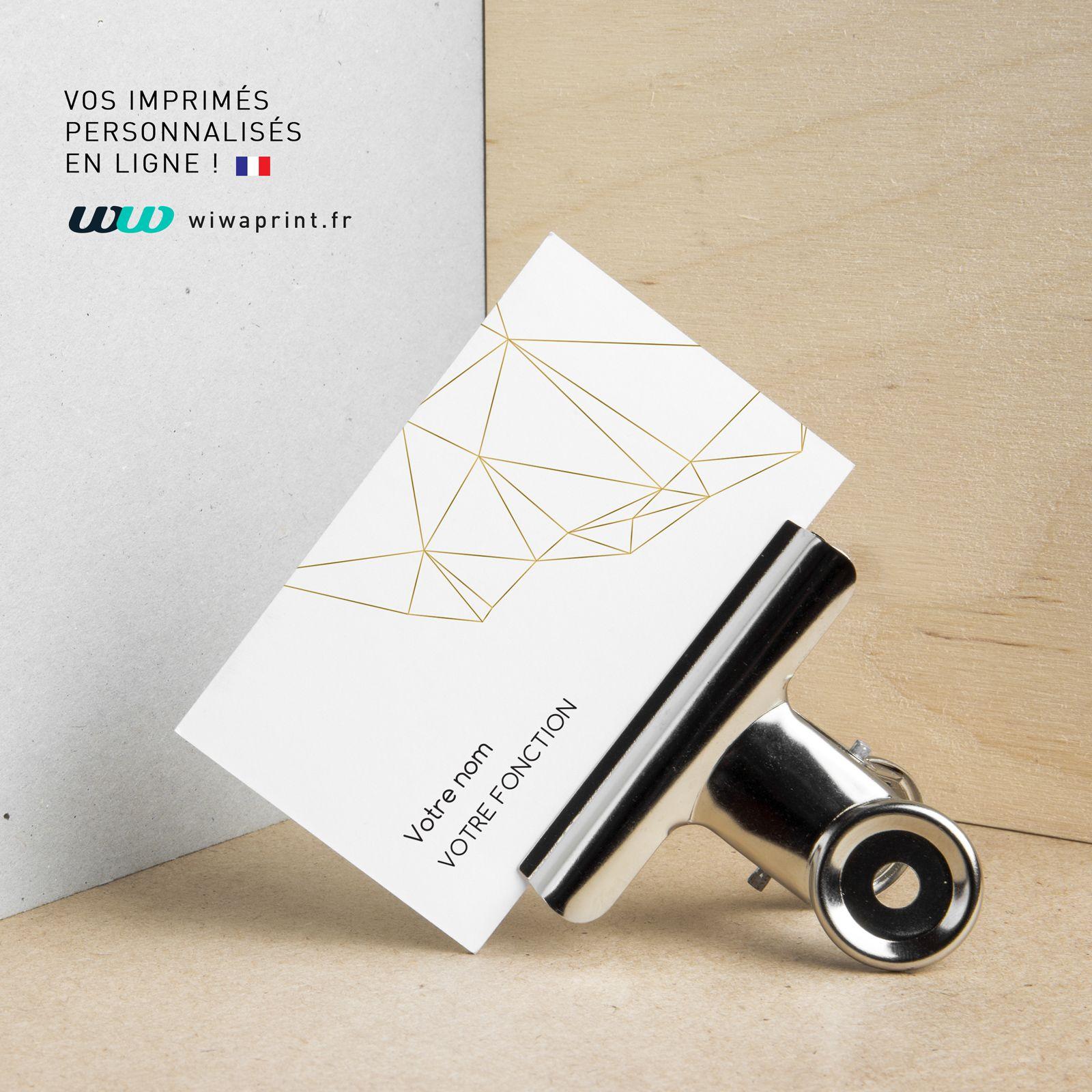 Carte De Visite Design Effet Or Graphic