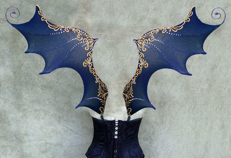 Dark Fairy Wings Costume These are handmade dark fairy & Dark Fairy Wings Costume These are handmade dark fairy   My Style ...