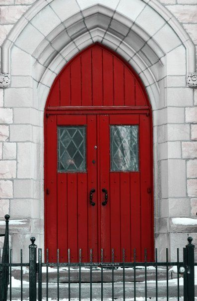 Photo By: Laura Arias,  Red Church Door, Chicago, IL 2008
