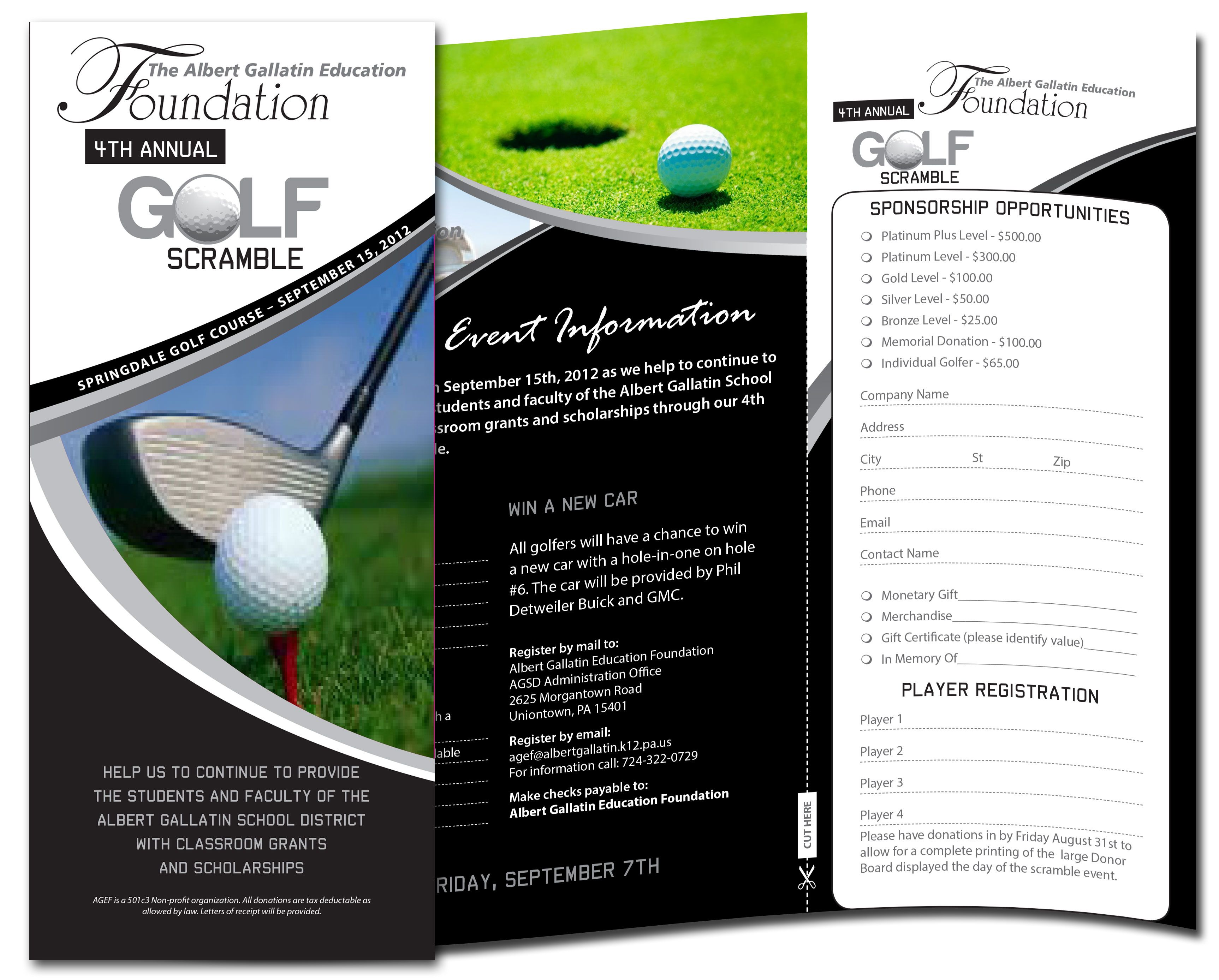 Golf Brochure  Slight Bump In Golf Brochure Template Design And