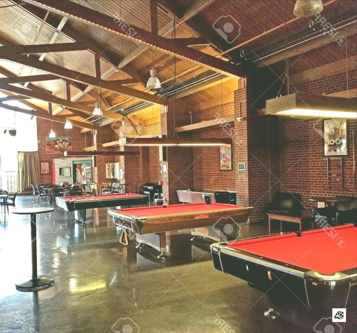 Photo of Billiard Tables In A Recreational Room Stock Photo, Picture And