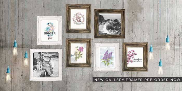 Shipping Soon! Gallery wall art frames in white and barnwood looks ...